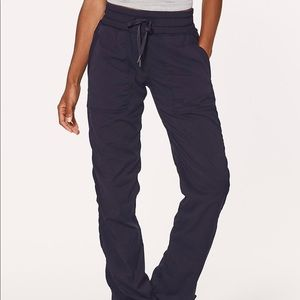 Lululemon Dance Studio Pant Lined Navy Blue Sz 2 R